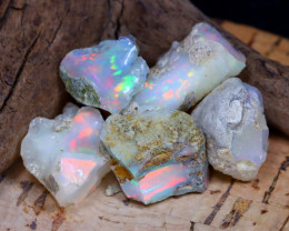 Welo Rough 34.67Ct Natural Ethiopian Play Of Color Rough Opal E2010