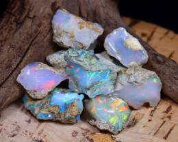 Welo Rough 38.02Ct Natural Ethiopian Play Of Color Rough Opal E2011