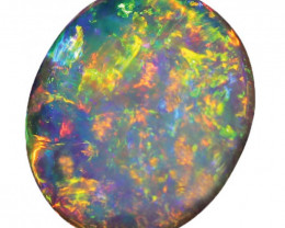 2.55 CT SEMI BLACK CRYSTAL OPAL  LIGHTNING RIDGE [CS264]
