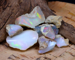 Welo Rough 33.26Ct Natural Ethiopian Play Of Color Rough Opal D2109