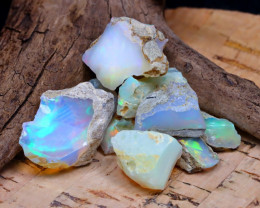 Welo Rough 38.37Ct Natural Ethiopian Play Of Color Rough Opal D2110