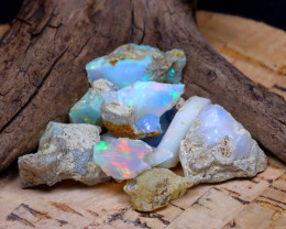 Welo Rough 35.81Ct Natural Ethiopian Play Of Color Rough Opal D2111
