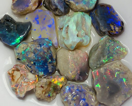NOBBY ROUGH OPALS- LOTS OF BRIGHT COLOURS #898