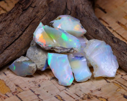 Welo Rough 35.83Ct Natural Ethiopian Play Of Color Rough Opal F2105