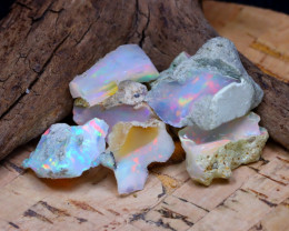 Welo Rough 31.45Ct Natural Ethiopian Play Of Color Rough Opal F2110