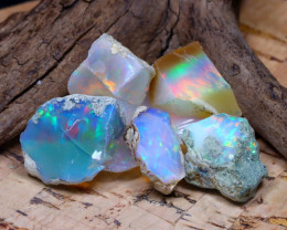 Welo Rough 41.81Ct Natural Ethiopian Play Of Color Rough Opal F2111