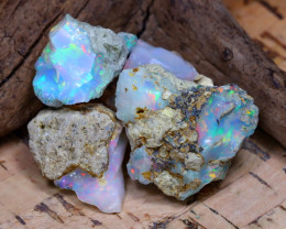Welo Rough 34.63Ct Natural Ethiopian Play Of Color Rough Opal D2203