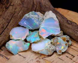Welo Rough 35.02Ct Natural Ethiopian Play Of Color Rough Opal D2204
