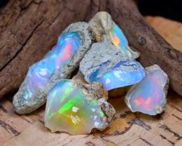 Welo Rough 32.61Ct Natural Ethiopian Play Of Color Rough Opal D2205