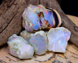 Welo Rough 32.75Ct Natural Ethiopian Play Of Color Rough Opal D2206