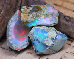 Welo Rough 32.80Ct Natural Ethiopian Play Of Color Rough Opal D2207