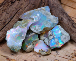 Welo Rough 34.36Ct Natural Ethiopian Play Of Color Rough Opal D2209