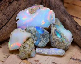 Welo Rough 31.38Ct Natural Ethiopian Play Of Color Rough Opal E2202