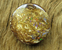 11cts, BOULDER WOOD FOSSIL OPAL.