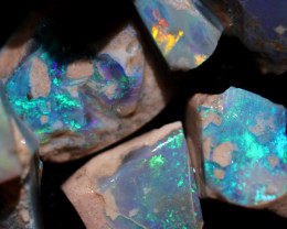 Dark Opal (Semi Black) Opal Rough Parcels