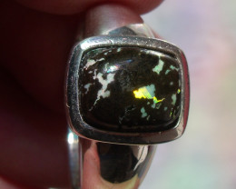 Mexican Leopard Opal Ring Men Size 10
