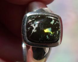 Mexican Leopard Opal Ring Men Size 10