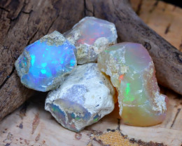 Welo Rough 33.25Ct Natural Ethiopian Play Of Color Rough Opal D2305