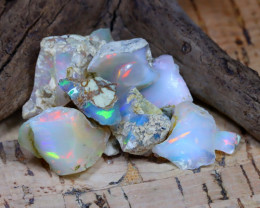 Welo Rough 31.98Ct Natural Ethiopian Play Of Color Rough Opal D2307