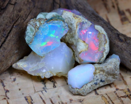 Welo Rough 32.68Ct Natural Ethiopian Play Of Color Rough Opal D2309