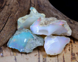 Welo Rough 33.23Ct Natural Ethiopian Play Of Color Rough Opal D2310