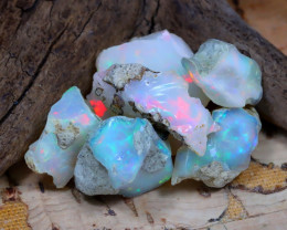 Welo Rough 31.69Ct Natural Ethiopian Play Of Color Rough Opal D2311
