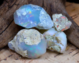 Welo Rough 36.78Ct Natural Ethiopian Play Of Color Rough Opal E2303