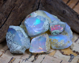 Welo Rough 30.34Ct Natural Ethiopian Play Of Color Rough Opal E2306