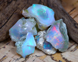 Welo Rough 32.54Ct Natural Ethiopian Play Of Color Rough Opal E2308