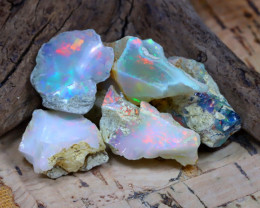 Welo Rough 31.94Ct Natural Ethiopian Play Of Color Rough Opal F2301