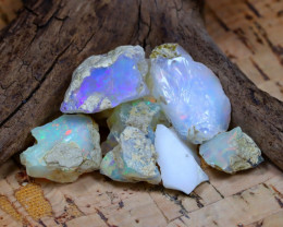 Welo Rough 33.02Ct Natural Ethiopian Play Of Color Rough Opal F2302