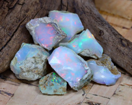 Welo Rough 32.30Ct Natural Ethiopian Play Of Color Rough Opal F2304