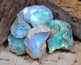 Welo Rough 30.46Ct Natural Ethiopian Play Of Color Rough Opal F2305