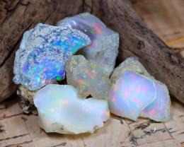 Welo Rough 35.10Ct Natural Ethiopian Play Of Color Rough Opal F2306