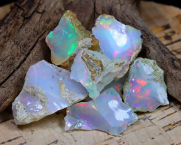 Welo Rough 35.02Ct Natural Ethiopian Play Of Color Rough Opal F2307