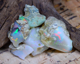 Welo Rough 30.44Ct Natural Ethiopian Play Of Color Rough Opal F2308