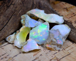 Welo Rough 35.12Ct Natural Ethiopian Play Of Color Rough Opal F2309