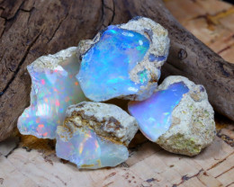 Welo Rough 30.20Ct Natural Ethiopian Play Of Color Rough Opal F2310