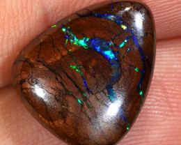 9.6ct 15.5x13mm Queensland Boulder Matrix Opal  [LOB-3417]