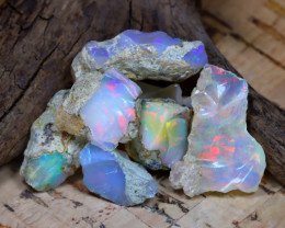 Welo Rough 31.53Ct Natural Ethiopian Play Of Color Rough Opal D2404
