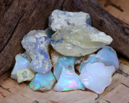 Welo Rough 32.53Ct Natural Ethiopian Play Of Color Rough Opal D2405