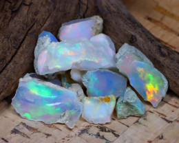 Welo Rough 33.03Ct Natural Ethiopian Play Of Color Rough Opal D2407