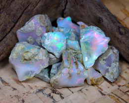 Welo Rough 36.60Ct Natural Ethiopian Play Of Color Rough Opal D2408