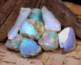 Welo Rough 31.87Ct Natural Ethiopian Play Of Color Rough Opal E2411