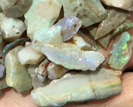 150.00 CTS ROUGH BLACK OPAL PARCEL - LIGHTNING RIDGE -