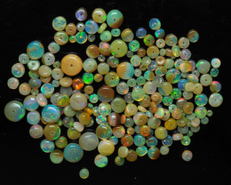46.94 ct - Ethiopian Welo Opal beads with play of color