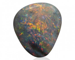 4.91 ct Very Bright Multicolor Mintabie Opal -Australia