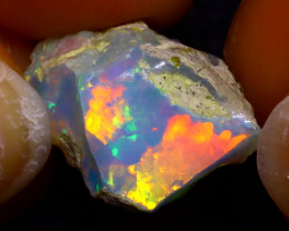 8.17Ct Multi Color Play Ethiopian Welo Opal Rough JF2802/R2