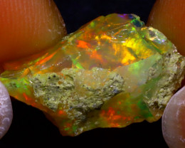 7.82Ct Multi Color Play Ethiopian Welo Opal Rough JF2804/R2