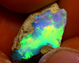 6.92Ct Multi Color Play Ethiopian Welo Opal Rough JF2819/R2